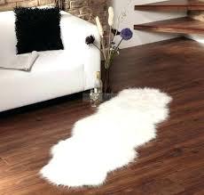 fake animal skin rugs faux ikea sheep