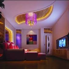 home led strip lighting. Media Room With Flush Mount Lamp And LED Strip Lights , House In Home Led Lighting S