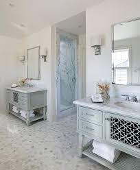 carrara tile bathroom. San Francisco Carrara Marble Hex Tile With Glass Shade Bathroom Contemporary And Slab Shower Walls