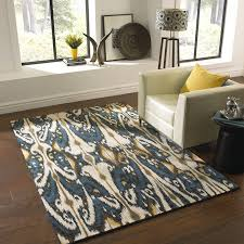 gold and gray ikat rug designs
