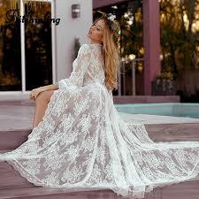 Fitshinling Deep v neck lace cover up beachwear <b>2019 summer</b> ...