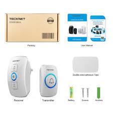 Wireless Doorbell, TeckNet Remote Waterproof Plug in Wireless Door ...