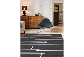 black and white large rug line
