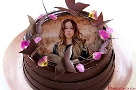 happy birthday chocolate cake with pic edit
