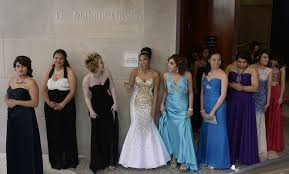 panels of teachers are determining if your prom dress is appropriate vogue