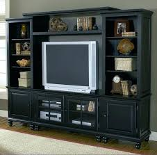 decoration black entertainment center wall unit living room furniture wood storage cabinets centers and cent