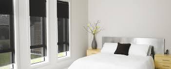 double roller blinds in bedroom