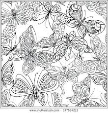 Butterfly Coloring Pages For Adults Calming Coloring Pages Free To