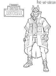 Fortnite Coloring Pages Print And Color Colin S Kleurplaten 55