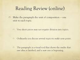 welcome to english composition today s class review of the  3 reading review online