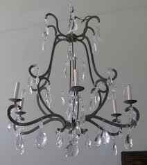 incredible inspiration iron and crystal chandelier fantastic design for interior home remodeling with