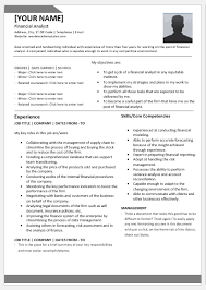 Financial Analyst Resume Templates For Word Word Excel