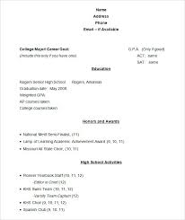 Sample Student Resume Format Sample Academic Resume Template Sample