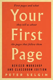 Your First Page First Pages And What They Tell Us About The Pages That Follow Them