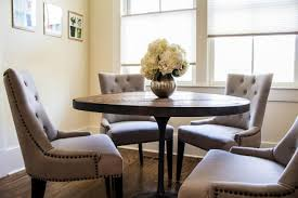 dining room using chic tufted dining chair round pedestal dining table with tufted dining chair