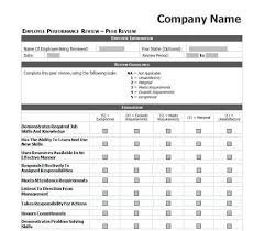 Employee Review Template employee peer review forms Ninjaturtletechrepairsco 2