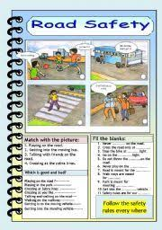road safety game stay safe on the road and promote class  english worksheet road safety