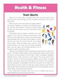 Reading Comprehension Worksheet - Team Sports | Esl | Pinterest ...