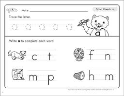 Long and short vowel grade/level: Short Vowels Worksheets Word Lists Practice Activities Printable Lesson Plans For Kids