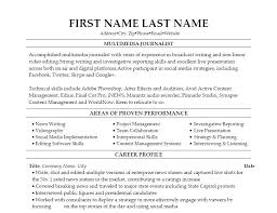 Journalism Resume Examples Classy Radio Broadcasting Resume Fabulous Journalism Resume Examples