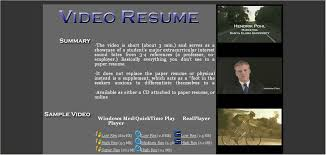 Video Resumes Samples Language And Culture Video Resume Links