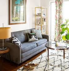 Paint colors for furniture Farmhouse Family Room With Gray Sofa And Area Rug Real Simple Foolproof Paint Colors For Your Living Room Real Simple