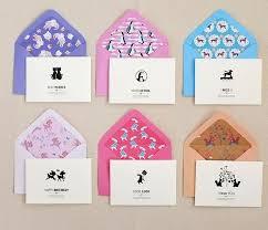 Simple Black White Elegant Greeting Cards Mini Size 6 Patterns Gift