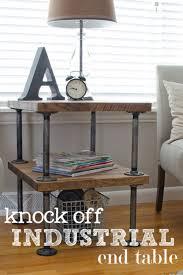 Antique Diy Industrial Decor Knock Off Industrial Side Table Industrail Shelves Furniture Table Diy Joy 34 Industrial Style Diy Ideas