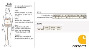 Carhartt Size Chart Women S Carhartt Size Charts