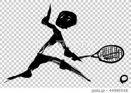 筆絵 テニスのシルエットのイラスト素材 44990548 Pixta