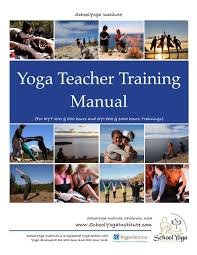 yoga teacher training manual