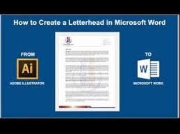 How To Letter Head How To Create A Letterhead In Microsoft Word 2016 2013 Or 2010
