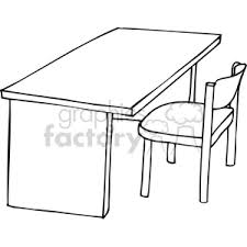 desk clipart black and white. Modren Black Black And White Outline Of A Chair Desk For Desk Clipart And White G