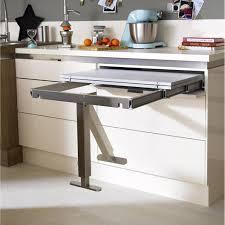Table Retractable Aluminium Delinia 95 X 75 Cm Home Meuble