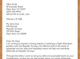 Sample Cover Letter For Cabin Crew Guamreview Com