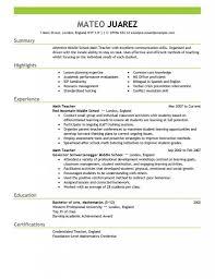 Teacher Resume Example Unique Contemporary Design Resume Education