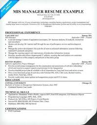 mis manager resume 76 beautiful photography of resume sample for mis manager