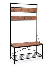 Coat Rack With Shoe Storage Cool Amazon FIVEGIVEN Entryway Coat Rack Bench With Shoe Storage