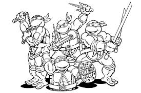 Small Picture Ninja Turtle Coloring Pages For Kids asobooinfo