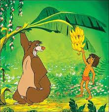 cartoon mowgli in jungle book with baloo the bear wallpaper hd free