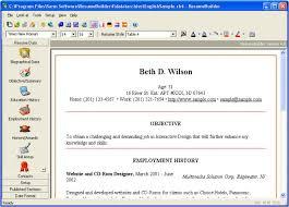 Resume Builder Download Free Resume Software