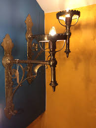 Arts And Crafts Wall Lights Pair Of Arts Crafts Brass Wall Bracket Lights 577583