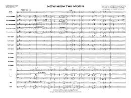 Dave Wolpe Charts How High The Moon By Morgan Lewis Arr Dave Wolpe J W