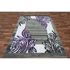 black rug with white border modern purple and white area rugs black for with regard to