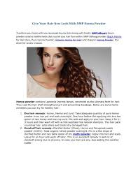 hair new look with nmp henna powder
