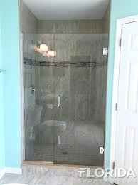 frameless glass shower walls 3 8 glass to wall inline shower door secured with u channel frameless glass shower walls