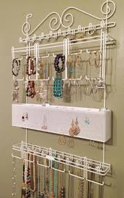 Jewelry Wall Organizer Interior Cute Necklace Wall Organizer For Better Jewelry Storage