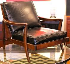modern mid century leather lounge chair by surprising 35 home