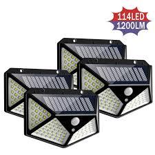 <b>4pcs 100 LED Solar</b> Light Outdoor Waterproof 4 side Solar Sunlight ...