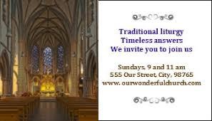 Church Invite Cards Template Business Invitation Card Templates